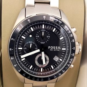 Fossil Chronograph Black and Stainless